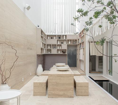 Studio GLVDK navrhlo v Mexiku minimalistický hotel Ryo Kan inspirovaný Japonskem