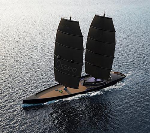 Designér Igor Jankovic navrhl luxusní vysokorychlostní černou jachtu Osseo