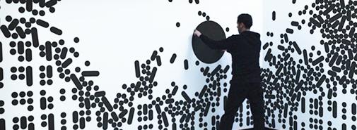Animovaná zeď je nová iluze od studia Büro Achter April