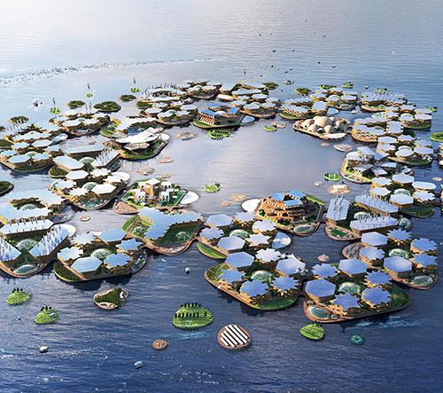 BIG navrhli ekologické plovoucí město Oceanix City pro trvalé žití na moři