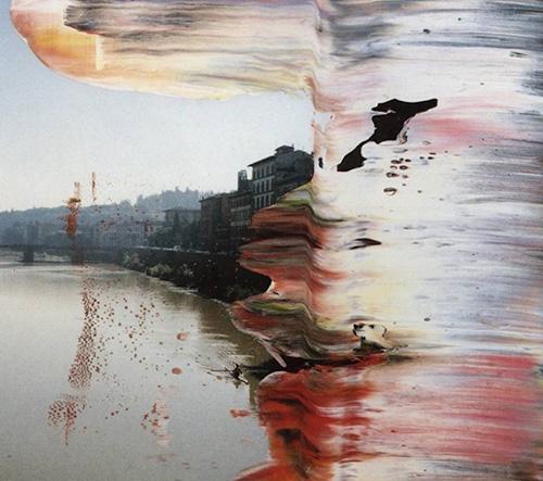 Německý umělec Gerhard Richter ve svých dílech kombinuje umění fotografie a olejomalby