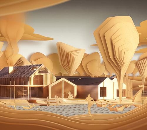 ArchiPaper je surrealistický animovaný film o architektuře jednoho domu