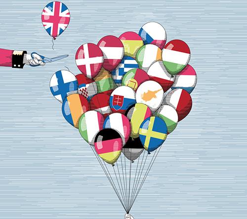 Ilustrátoři reagují na dnešní ne Velké Británie Evropské unii