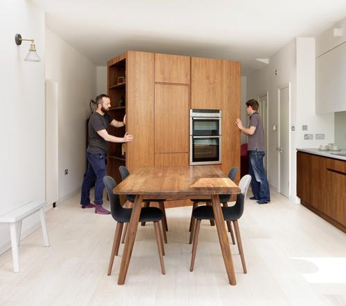 Viktoriánský dům s kuchyňí na kolečkách společnosti Turner Architects