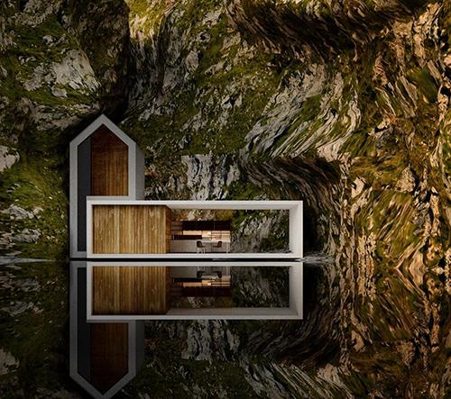 Architekt Alexander Nerovnya umisťuje svoje návrhy obydlí do dokonale snového prostředí