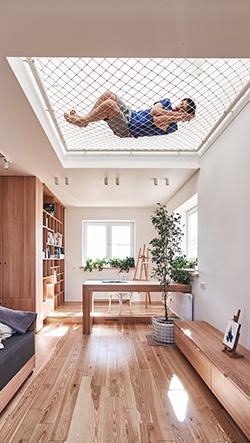 Ruetemple navrhli domov s odpočinkovými sítěmi v Moskvě