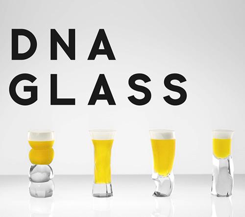DNA Glass je unikátní sklenice na pivo podle vaší DNA