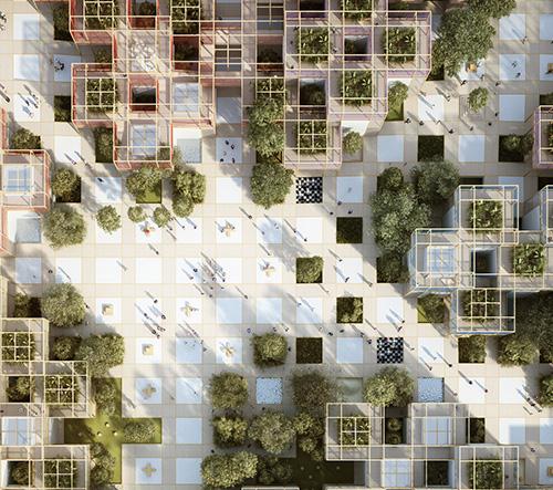 Studio  Penda navrhlo modulární výstavní vesnici pro zahradnickou výstavu Expo 2019 v Pekingu