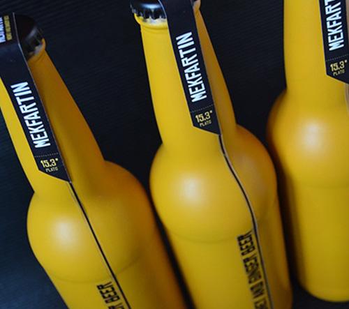Slovenský pivovar MEKFARTIN se prezentuje prvotřídním designem láhví