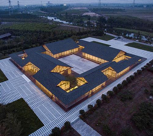 Arch Studio navrhlo v Číně závod na výrobu organického jídla ve stylu tradiční místní architektury