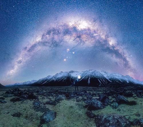 Inspirativní foto noční oblohy Nového Zélandu