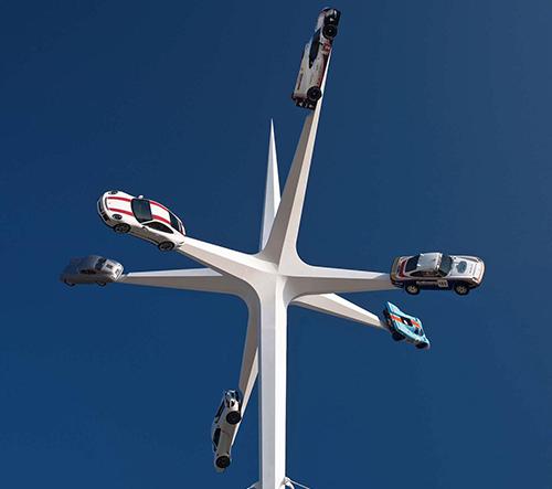 Gerry Judah vytvořil sochu hvězdy k výročí 70 let automobilky Porsche
