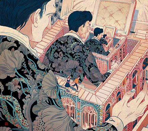 Victo Ngai vytváří ohromující ilustrace, které vypráví tajuplné příběhy