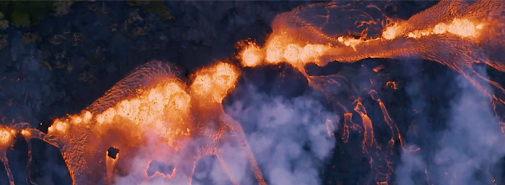 Video ukazuje sílu přírody po erupci vulkánu Kīlauea