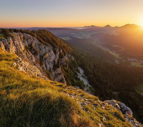 Ranní procházka pro francouzských horách