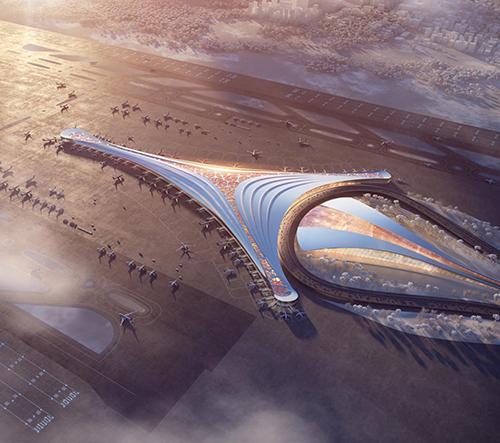 Polsko chce postavit jedno z největších letišť světa navržené světovými architekty