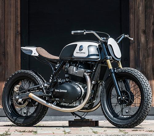 Zeus Custom ukazují výrobu speciální motorky Moose od Royal Enfield